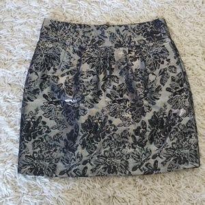 Black and silver silence + noise mini skirt